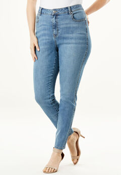 High-Rise Skinny Jean by Denim 24/7®, LIGHT WASH
