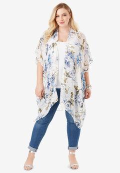 Floral Kimono, BLUE BOUQUET