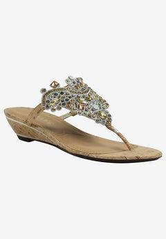 Marsiella Sandal by J.Renee®, NATURAL GOLD CORK