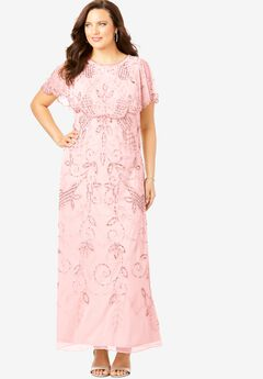 Glam Maxi Dress, PALE BLUSH