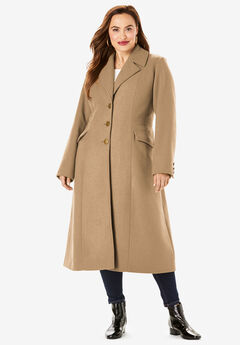 Long Wool-Blend Coat,