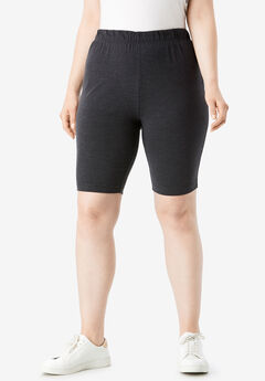 Essential Stretch Bike Short, HEATHER CHARCOAL