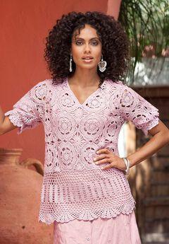 eb49b8e3c62 Crochet Starburst-Stitch Cardigan