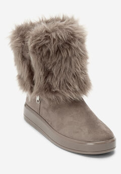 The Shai Wide Calf Boot by Comfortview®, DARK TAUPE