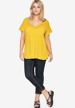 Dolman Sleeve Tunic by Castaluna, CHROME YELLOW