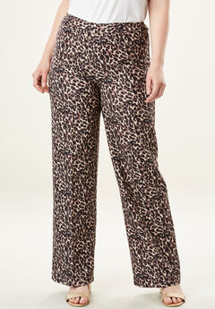 Bend Over® Wide-Leg Pant, LEOPARD PRINT