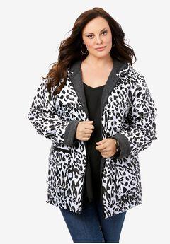 Hooded Jacket with Fleece Lining,