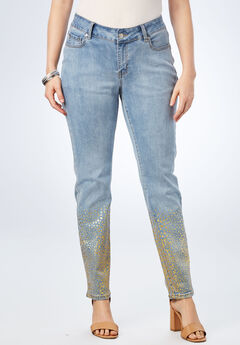 7252816181b9f Foil Print Jean with Invisible Stretch® by Denim 24 7®