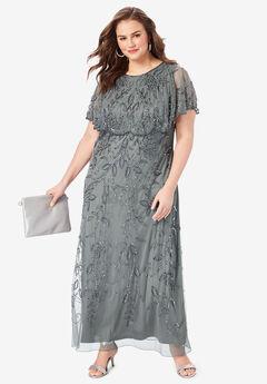 Glam Maxi Dress, SLATE