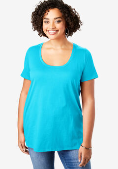 Scoopneck Ultimate Tee, OCEAN