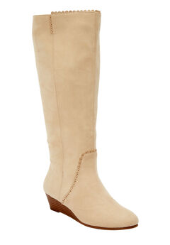 The Destiny Wide Calf Boot by Comfortview®, BONE