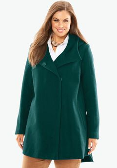 Hooded Short Wool Coat,