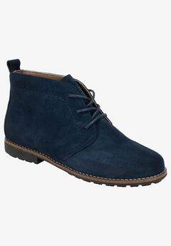 Auburn Bootie by White Mountain, NAVY SUEDE