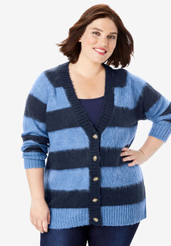 Deep V Button Cardigan,