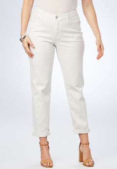 Boyfriend Jean by Denim 24/7®, WHITE
