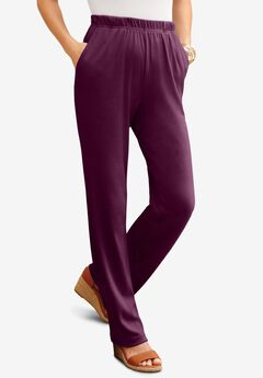 Straight-Leg Soft Knit Pant,