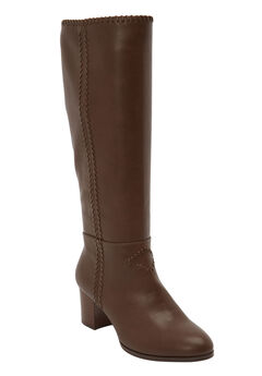 The Blaire Wide Calf Boot by Comfortview®, BROWN