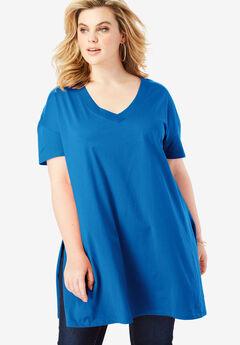 V-Neck Ultimate Tunic, COBALT BLUE