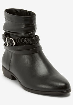 The Mickey Bootie by Comfortview®, BLACK