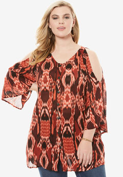 Cold-Shoulder Angelina Tunic,