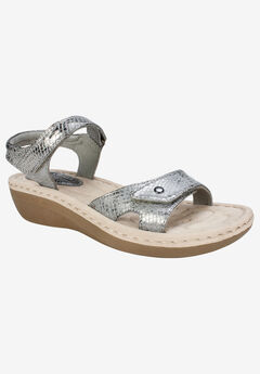 Charlee Sandal by Cliffs by White Mountain, PEWTER FABRIC