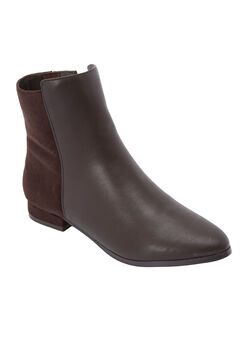 The Adrianne Bootie by Comfortview®, DARK BROWN
