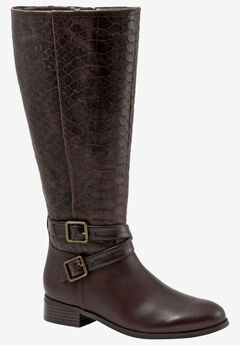 Liberty Boot by Trotters, DARK BROWN SNAKE