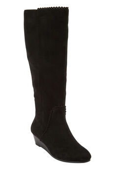The Destiny Wide Calf Boot by Comfortview®, BLACK