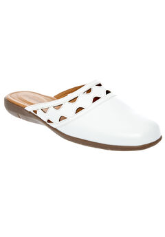 McKenna Mules by Comfortview®, WHITE