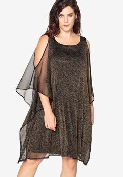 Sheath Evening Dress with Sheer Layer by Castaluna,
