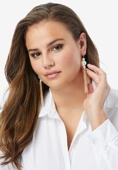Pearl & Chain Fringe Earring,
