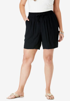 Drape Short, BLACK