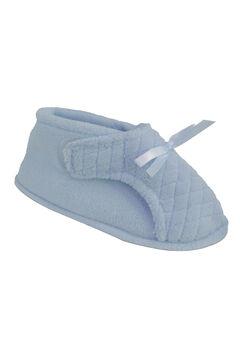 Micro Chenille Adjustable Slipper by Muk Luks®, BLUE