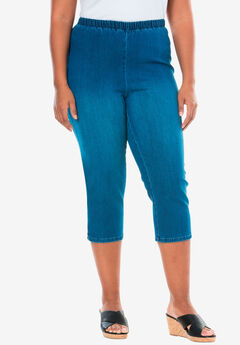Capri Pull-On Stretch Jean by Denim 24/7®,