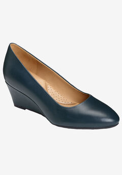 Inner Circle Wedge by Aerosoles®, NAVY LEATHER
