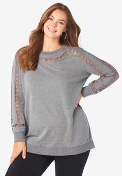 Ladder-Stitch Sweatshirt,