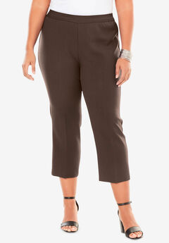 Bend Over® Capri Pant, CHESTNUT
