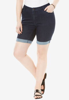 Cuffed Denim Short by Denim 24/7®,