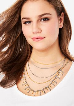 Multi-Strand Chain Necklace,