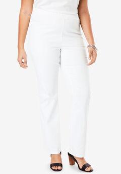 Pull-On Stretch Denim Straight-Leg Jean by Denim 24/7®,