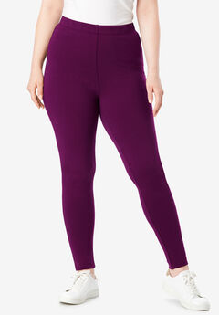 Essential Stretch Legging, DARK BERRY