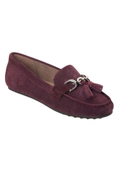 Soft Drive Flats by Aerosoles®, WINE SUEDE