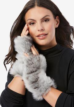 Faux-Fur Gloves,