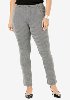Skinny 5-Pocket Ultimate Ponte Pant, HERRINGBONE