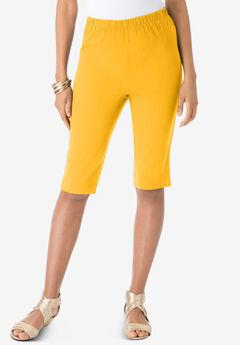 Pull-On Stretch Bermuda Jean Short,