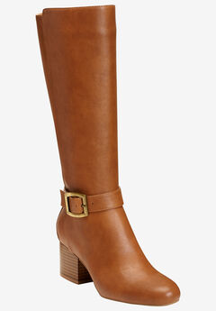 Patience Wide Calf Boots by Aerosoles®, TAN