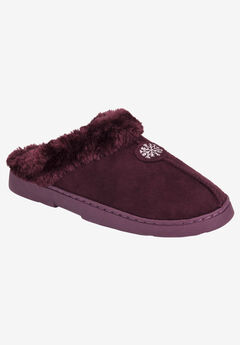 Clog with Fur Lining by Muk Luks®, BURGUNDY