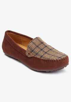 The Milena Moccasin by Comfortview®, BROWN PLAID