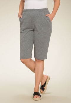 Soft Knit Bermuda Shorts,