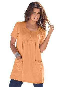 Two-Pocket Trapeze Tunic,